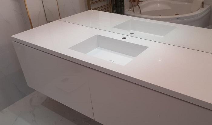 Çekmeköy Corian Banyo Tezgahı